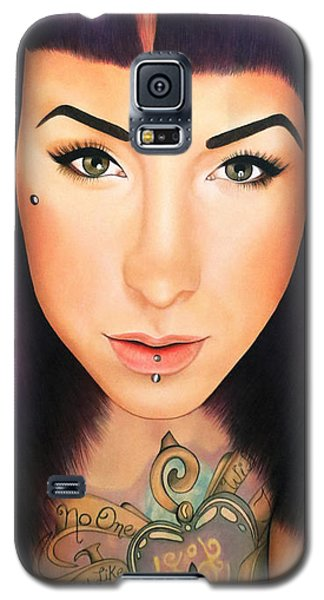 Galaxy S5 Case featuring the painting True Beauty - Danielle St Laurent by Malinda Prudhomme