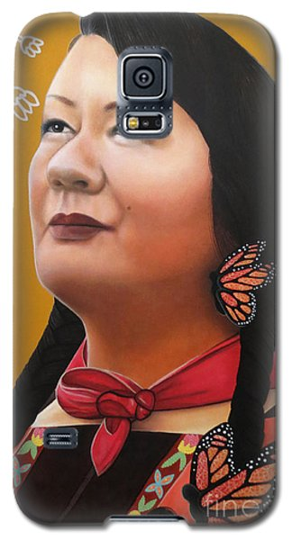 Galaxy S5 Case featuring the painting True Beauty - Jenny Blackbird by Malinda Prudhomme