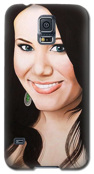 Galaxy S5 Case featuring the painting True Beauty - Vivian Bro by Malinda Prudhomme