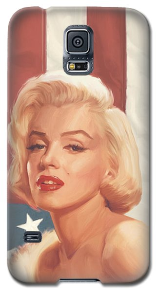 True Blue Marilyn In Flag Galaxy S5 Case