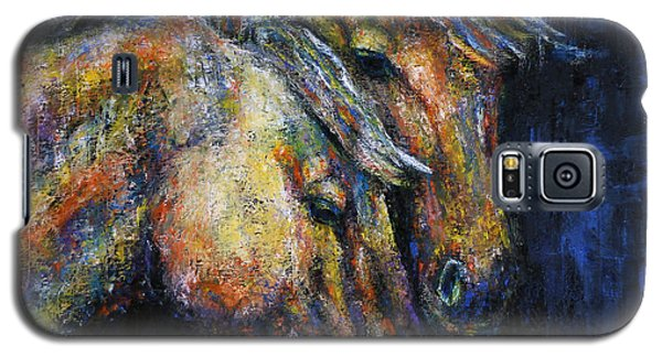 True Companions Contemporary Horse Painting Galaxy S5 Case
