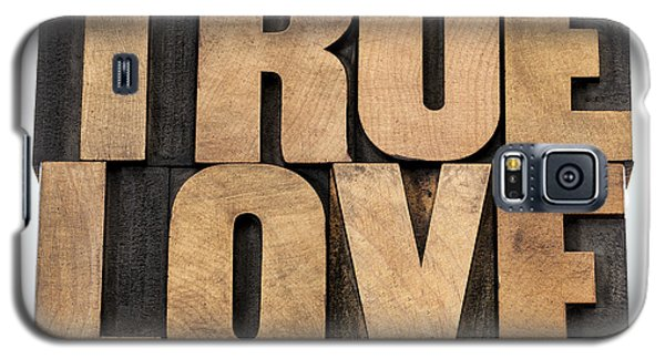 Galaxy S5 Case featuring the photograph True Love In Wood Type by Marek Uliasz
