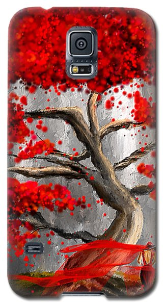 True Love Waits - Red And Gray Art Galaxy S5 Case