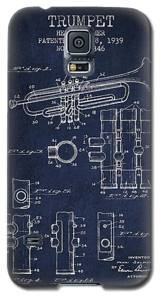 Trumpet Patent From 1939 - Blue Galaxy S5 Case by Aged Pixel