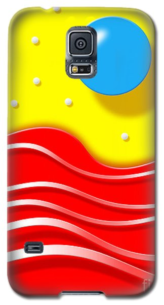 Galaxy S5 Case featuring the digital art Tsunami 2 by Cristophers Dream Artistry
