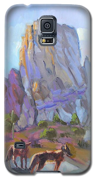 Tucson Butte With Two Coyotes Galaxy S5 Case