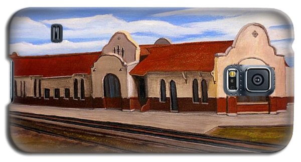 Galaxy S5 Case featuring the painting Tucumcari Train Depot by Sheri Keith