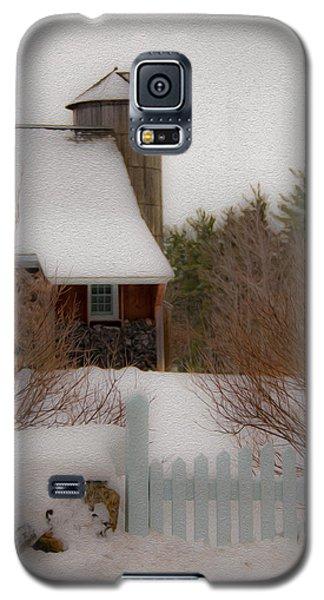 Tuftonboro Farm In Snow Galaxy S5 Case