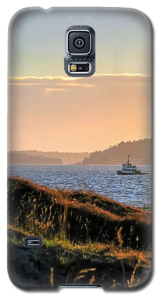Tugboat Twilight - Chambers Bay Golf Course Galaxy S5 Case by Chris Anderson