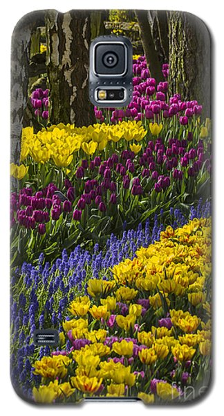 Tulip Beds Galaxy S5 Case by Sonya Lang
