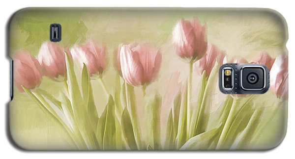 Galaxy S5 Case featuring the painting Tulip Bouquet by Linda Blair