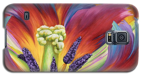 Galaxy S5 Case featuring the painting Tulip Color Study by Jane Girardot