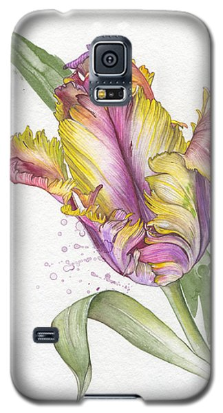 Galaxy S5 Case featuring the painting Tulip -  Elena Yakubovich by Elena Yakubovich