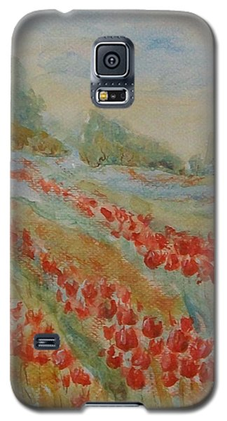 Galaxy S5 Case featuring the painting Tulip Field by Jane  See