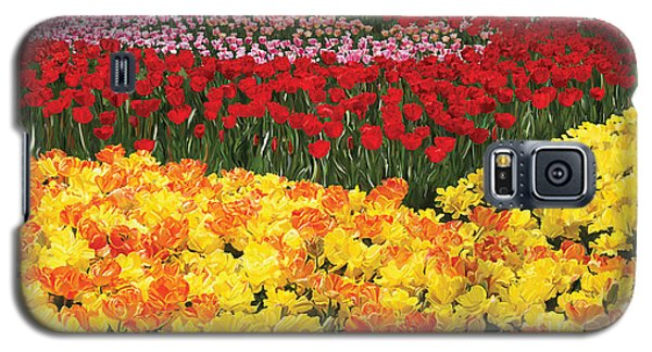 Galaxy S5 Case featuring the digital art Tulip Field by Tim Gilliland