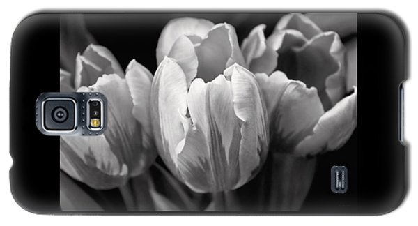 Tulip Flowers Black And White Galaxy S5 Case by Jennie Marie Schell