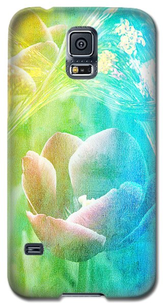 Galaxy S5 Case featuring the photograph Tulip Garden by James Bethanis