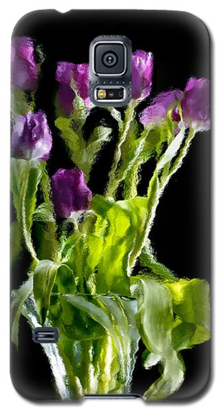 Galaxy S5 Case featuring the photograph Tulip Impressions Vi by Penny Lisowski