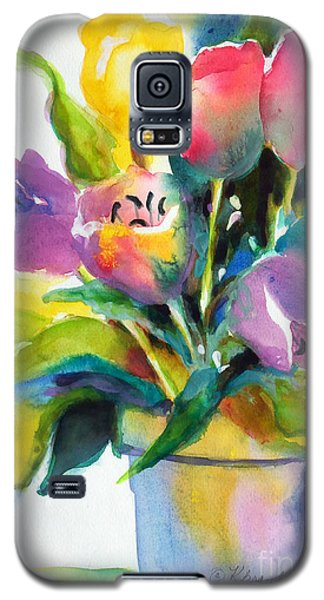 Galaxy S5 Case featuring the painting Tulip Pot by Kathy Braud