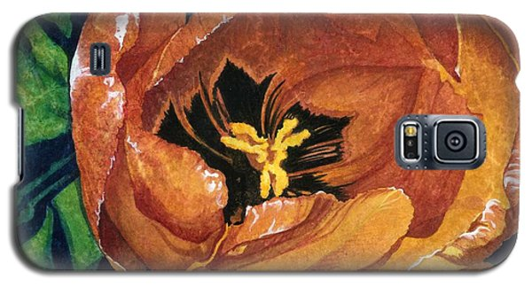 Galaxy S5 Case featuring the painting Tulip Swirl by Barbara Jewell