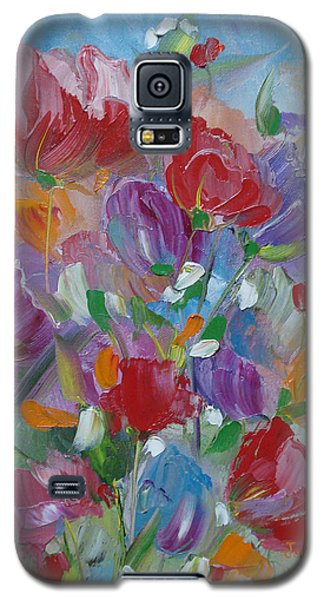 Galaxy S5 Case featuring the painting Tulip Symphony by Judith Rhue