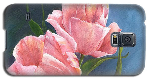 Galaxy S5 Case featuring the painting Tulip Waltz by Sherry Shipley