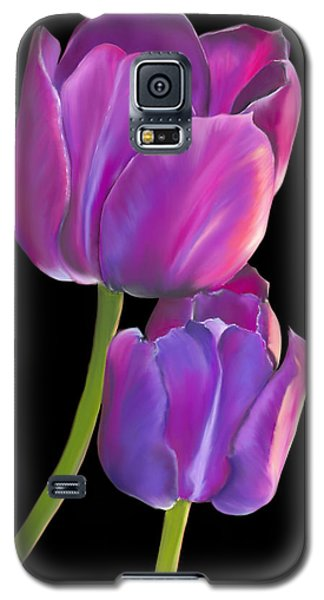 Galaxy S5 Case featuring the painting Tulips 2 by Laura Bell