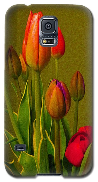 Tulips Against Green Galaxy S5 Case