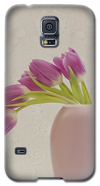 Galaxy S5 Case featuring the photograph Tulips And Lace by Sandra Foster
