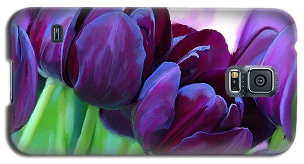 Tulips-dark-purple Galaxy S5 Case