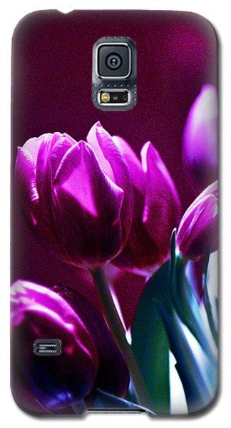 Tulips In Purple Galaxy S5 Case