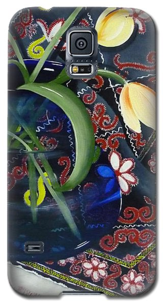 Galaxy S5 Case featuring the painting Tulips by Helen Syron