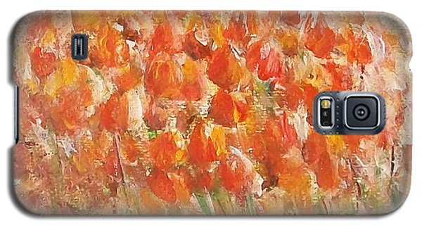 Galaxy S5 Case featuring the painting Tulips by Jane  See