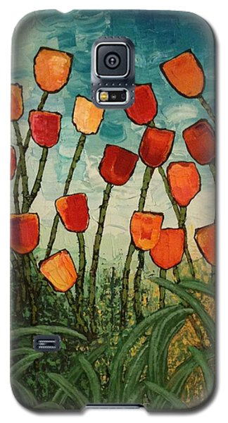 Galaxy S5 Case featuring the painting Tulips by Linda Bailey