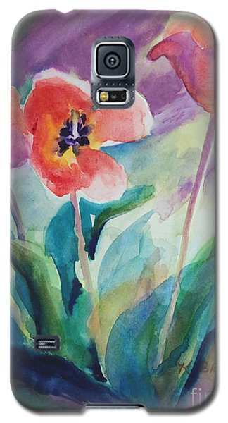 Tulips With Lavender Galaxy S5 Case