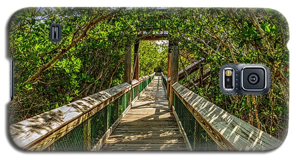 Galaxy S5 Case featuring the photograph Tunnel Of Mangrove Green by Julis Simo