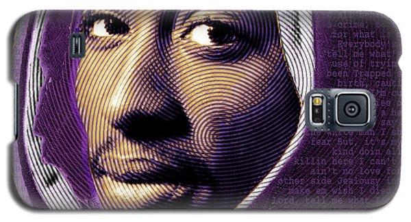 Tupac Shakur And Lyrics Galaxy S5 Case