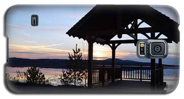 Tupper Lake Sunset Over Raquette Pond Galaxy S5 Case by Maggy Marsh