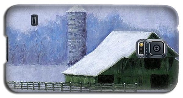 Galaxy S5 Case featuring the painting Turner Barn In Brentwood by Janet King