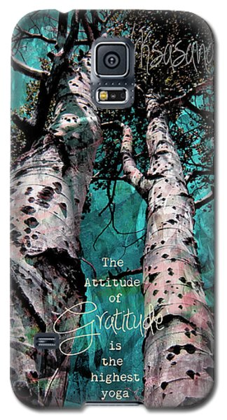 Turquois Trees  Galaxy S5 Case