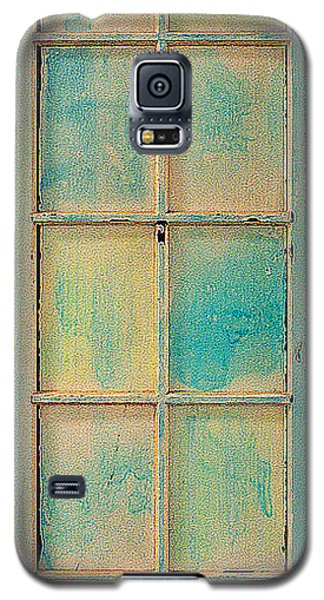Turquoise And Pale Yellow Panel Door Galaxy S5 Case by Asha Carolyn Young