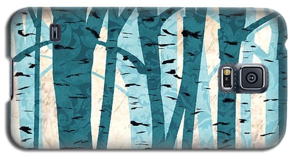 Turquoise Birch Trees Galaxy S5 Case