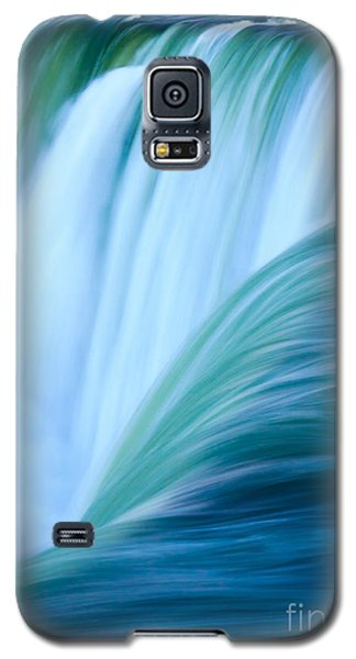 Galaxy S5 Case featuring the photograph Turquoise Blue Waterfall by Peta Thames