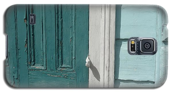 Turquoise Door Galaxy S5 Case by Valerie Reeves