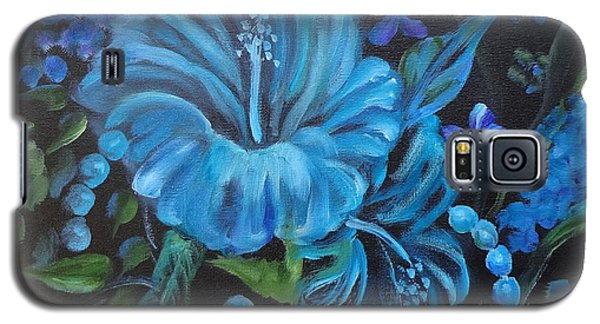 Turquoise Hibiscus Galaxy S5 Case by Jenny Lee