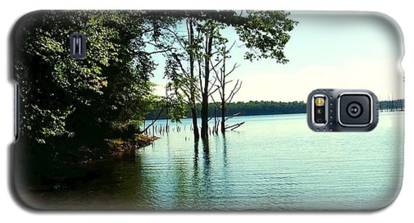 Galaxy S5 Case featuring the photograph Turquoise Lake by Becky Lupe