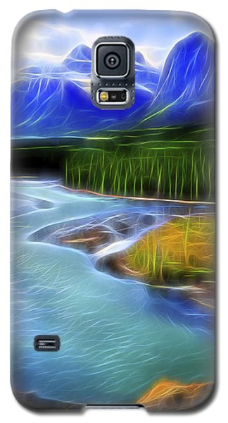Galaxy S5 Case featuring the digital art Turquoise Light 1 by William Horden