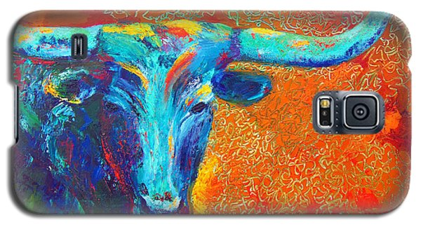 Turquoise Longhorn Galaxy S5 Case by Karen Kennedy Chatham