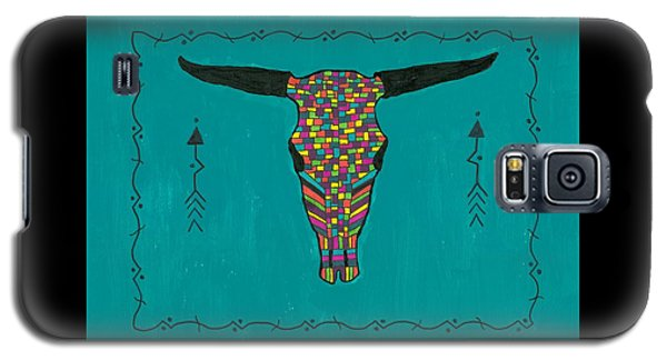 Turquoise Longhorn Skull Galaxy S5 Case by Susie Weber