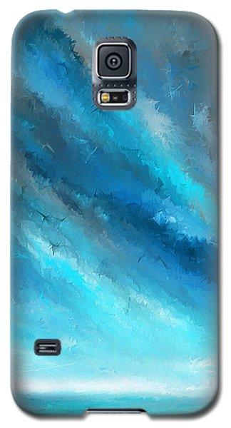 Turquoise Memories - Turquoise Abstract Art Galaxy S5 Case